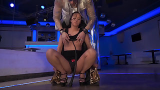 BDSM session with a kinky MILF brunette
