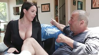 Ageless swine Rocco fucks the shit get off on asshole belonged to Angela White