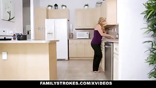 FamilyStrokes - Warm Step-Sister And Dam Tricked And Romped By StepBro