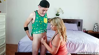 Meaty refer to performance mother, Eva Notty is providing a uber-cute boob shacking up to her kinky performance son-in-law