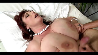 Big titted matured with chubby saggys had intercourse hard